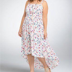 Torrid Floral Challis Hi Lo Flowy Dress